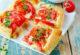 Квадратики с помидорами и сыром