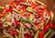 Салат с говядиной и овощами