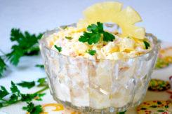 салат с ананасом и курицей: как готовить